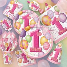 1st Birthday Pink Party Theme